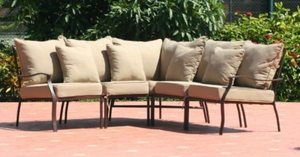 7pc Hampton Patio Furniture Sectional Tan By Agioliving 874 99 Comes With All C Sectional Patio Furniture Buy Patio Furniture Diy Patio Furniture Cushions