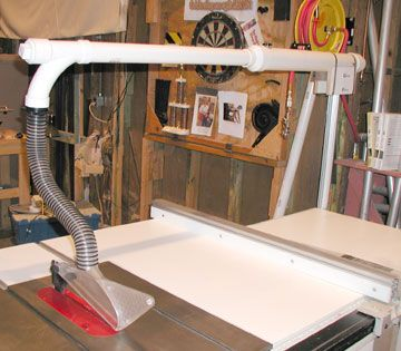 Scenic Shop Improvements Table Saw Dust Collection Diy Table Saw Dust Collection