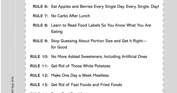 "Healthy eating tips from Bob Harper. He calls them ""The Skinny Rules"""