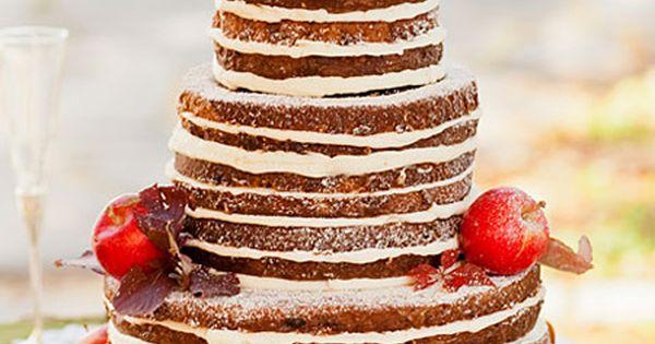 Beautiful rustic wedding cake. Perfect for fall.