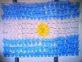 Manualidades Para El Día De La Bandera Argentina Día De La Bandera Manualidades Banderas De Papel