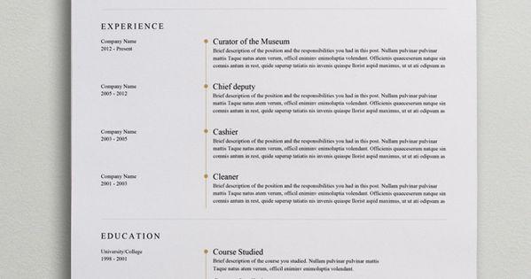 elegant resume template  word  psd