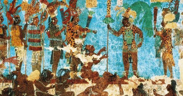 Pintura mural bonampak c 790 de la era com n chiapas for Bonampak mural painting