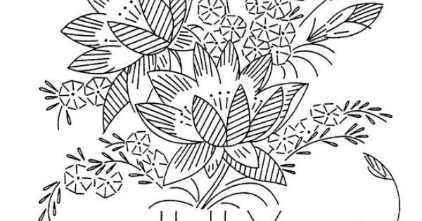 JULY Vintage Flower Of The Month Transfer Larkspur Or