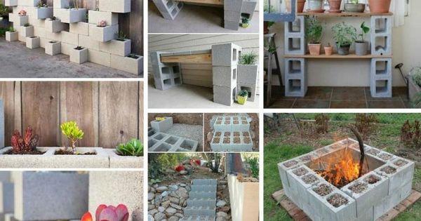 Bloc béton pour la déco de jardin en 30 idées créatives  Foyers ...