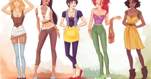 alternate art disney character | Alternative art - female Disney characters.