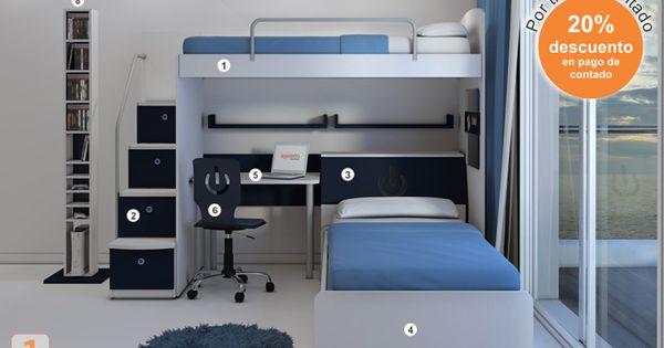 Mueble c digo b17 camas marineras varones agioletto for Muebles infantiles camas