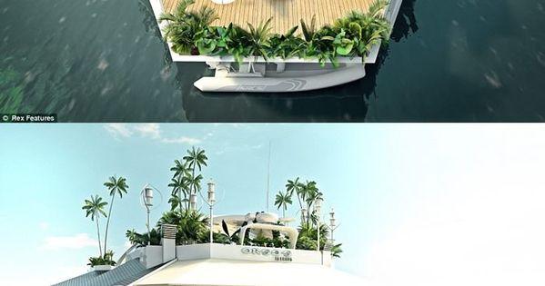 Floating Island Boat... dream house?