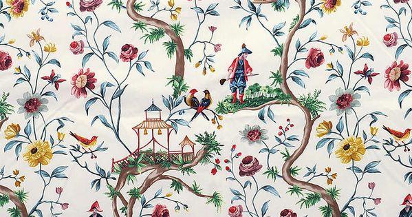 pierre frey papier peint tissus paris chinoiseries en d coration pinterest tissus. Black Bedroom Furniture Sets. Home Design Ideas