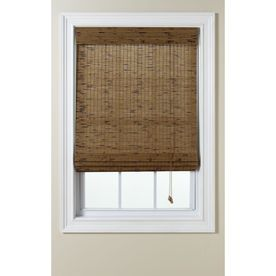 Shop Levolor Tatami Light Filtering Woven Wood Natural Roman Shade Common 60 0 In Actual 59 5 In X Natural Roman Shade Woven Wood Roman Shades Shades Blinds
