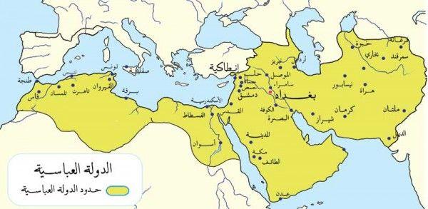 تم الإجابة عليه القارات التي امتدت فيها الدولة العباسية Middle Ages World Map Age