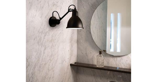 Applique murale de salle de bain lampe gras n 304 dcw for Comptoir salle de bain ikea