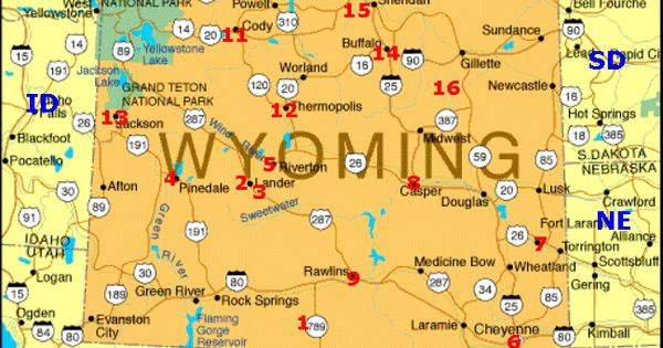 map of rv camping in wyoming Google Search wyoming