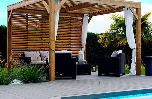 photos de piscine de style de style moderne un jardin. Black Bedroom Furniture Sets. Home Design Ideas
