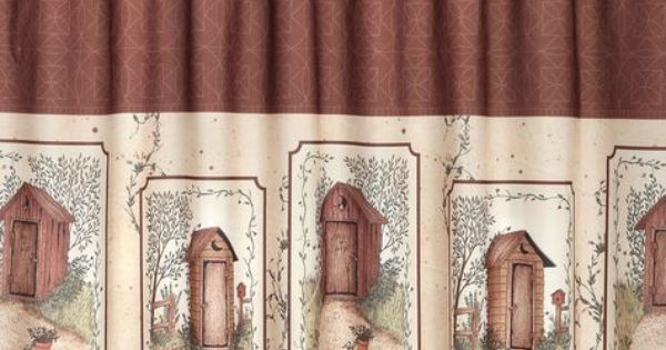 Outhouse Shower Curtains Saturday Knight Outhouses Fabric Shower