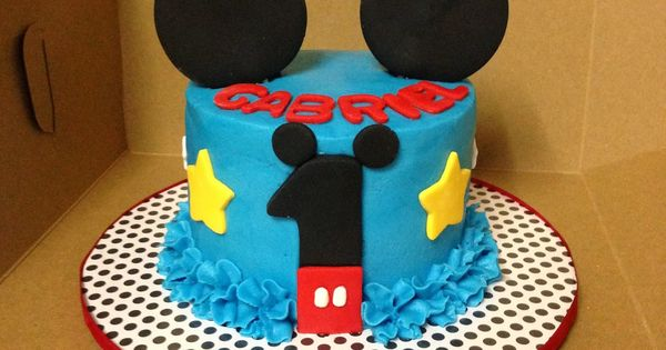 Mickey Mouse Smash Cake: Cakes By Mindy: Mickey Mouse Smash Cake 4""