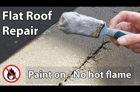 Flat Roof Leak Repair Paint On Liquid Waterproof Sealant Roof Leak Repair Leaking Flat Roof Flat Roof Repair