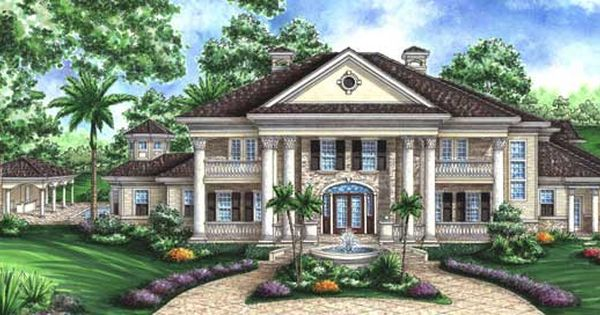 Plan 66231we southern influenced plantation estate for Luxury plantation home plans