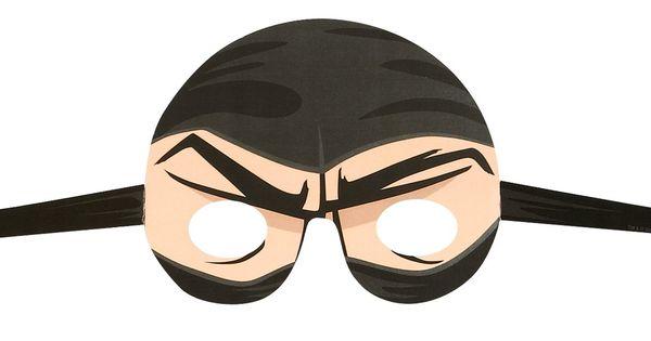 Ninja Warrior Party Paper Masks Paper Masks And Warriors