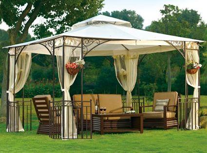 High Quality 10 X 12 Outdoor Gazebo With Mosquito Netting Patio Gazebo Backyard Pergola Outdoor Pergola