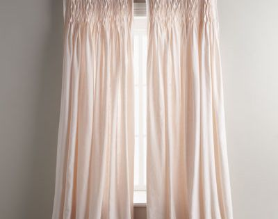 Curtain Made Of Organic Linen Rod Pocket Styling 16 Quot L