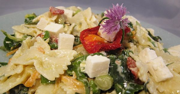 Pasta Salad With Feta, Sun-dried Tomato | food | Pinterest | Pasta ...