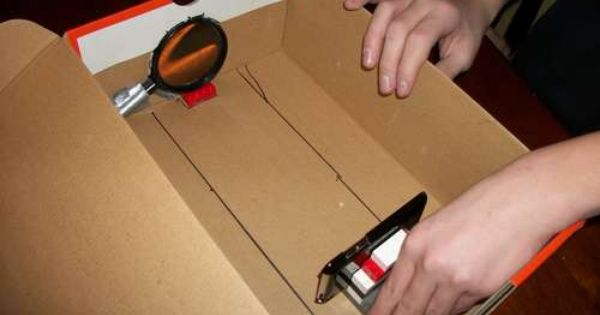 How to make a projector for your ipod iphone for about a for Iphone movie projector