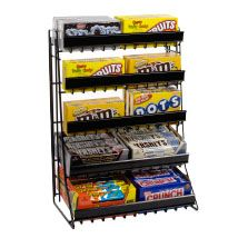 Candy Display 5 Tier Candy Counter Display Rack With Sign
