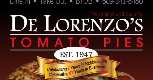 De Lorenzo S Tomato Pies Est 1947 Tomato Pie Pizza Place Recipes