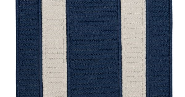 Rope Walk Area Rug Navy Blue And White Beach House