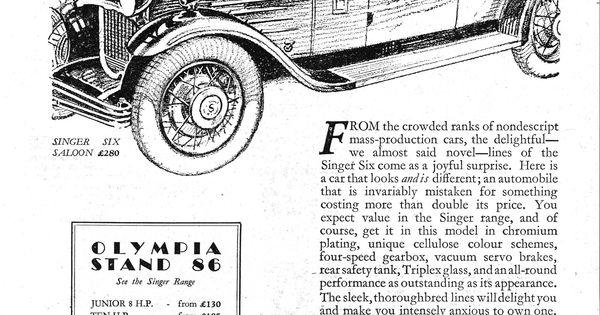 singer junior ten 10 six 6 motor car autocar advert 1930
