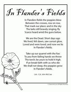 Poem In Flander S Fields Remembrance Day Remembrance Day Activities Veterans Day Activities