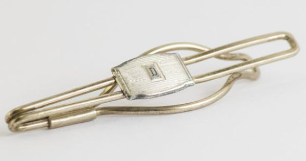 Vintage Tie Clip  Letter D Initial Silver Toned by CuffsandClips, $15.30