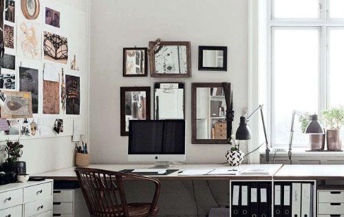 work space via elle decor uk