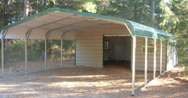Regular style end storage carport combo carports for Carport deck combination