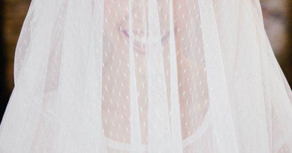 Pippa – Brautkleid in A-Form aus Tupfen-Tüll  küssdiebraut ...