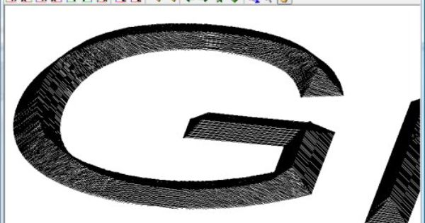 Font 2 dxf and g code cad cam pinterest fonts cnc for Cnc lettering software