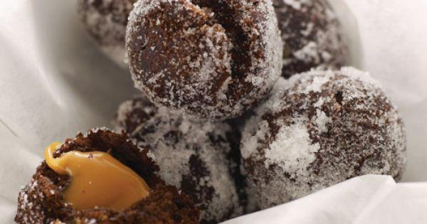 Chocolate-Caramel Doughnut Holes | Recipe | Doughnut Holes, Chocolate ...