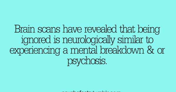 Brains scans revealed that being ignored is neurologically ...
