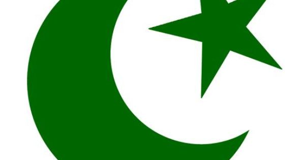 Crescent moon and star as Islamic symbols were introduced ...