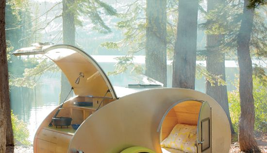 Teardrop trailer for summer road trips travel camping trailers. I want one