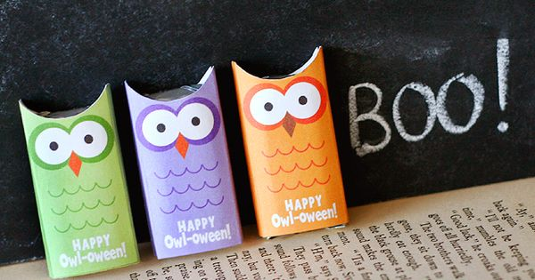 Spooktacular idea from Lisa Storms - Little Owl Candy Wrappers! (Found on
