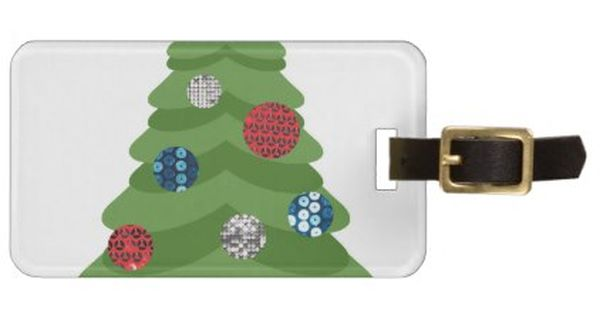 Emoji Christmas Tree Luggage Tag Xmas Christmas Diy Customize Unique Gifts Presents Emoji Christmas Tree Emoji Christmas Bag Tags