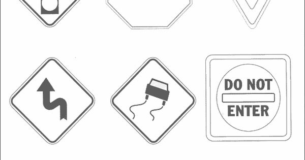 Traffic Safety Signs Coloring Pages Riicky Pinterest Safety Signs Coloring Pages