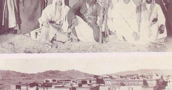 في حرب اليمن عام 1934 و على يسار الملك سعود الأمير محمد بن سعود الكبير شقران وعلى يمينه الأمير خالد بن محمد بن عبدالرحمن و غصاب بن م Painting Art King