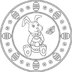 Mandalas Zu Ostern Mit Dem Osterhasen Und Ostereiern Kinder Basteln Fruhling Ostern Mandala Ostern Osterhasen Bilder Zum Ausmalen