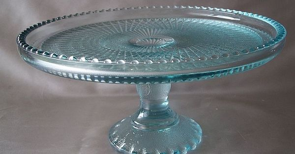 Ice Blue Cake Stand Jeanette Glass 1954 57 Found This