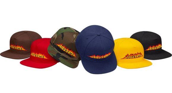 Supreme Annihilation 5-Panel Hat Cap SS17 Black
