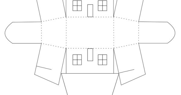free small house favor box template by kelli silhouette cameo pinterest box templates. Black Bedroom Furniture Sets. Home Design Ideas