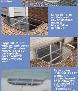 Window Well Covers Safety Covers Security Covers Area Well Covers Basement Window Well Cover Window Well Basement Windows